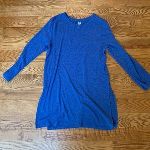 Old navy blue sweater tunic
